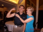 It appears that swimmers never lose their biceps!  Showing off for Cathie Erickson is Ken Zakariason.  Very nice!